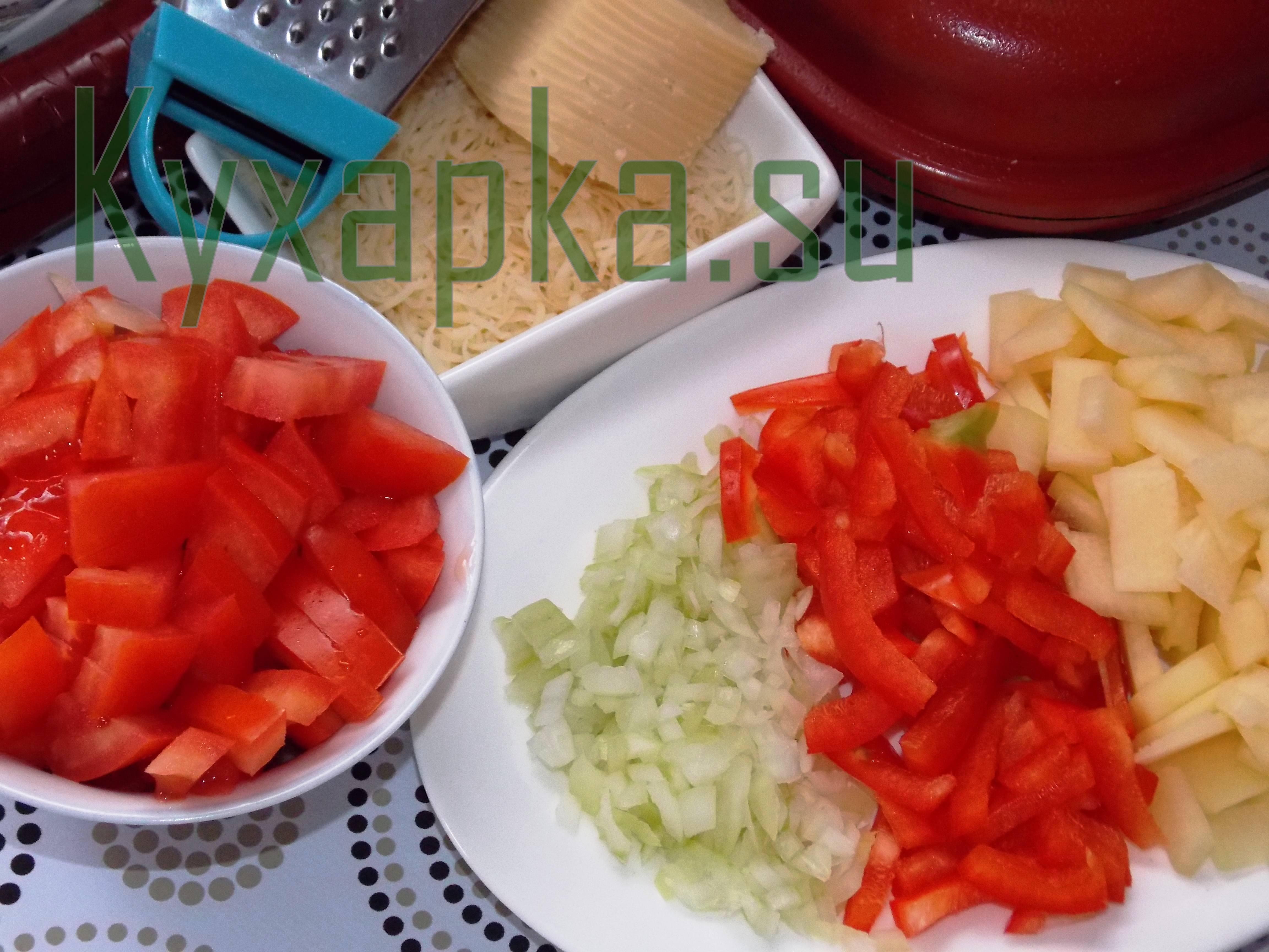 Омлет с овощами на завтрак фото Kyxapka.su