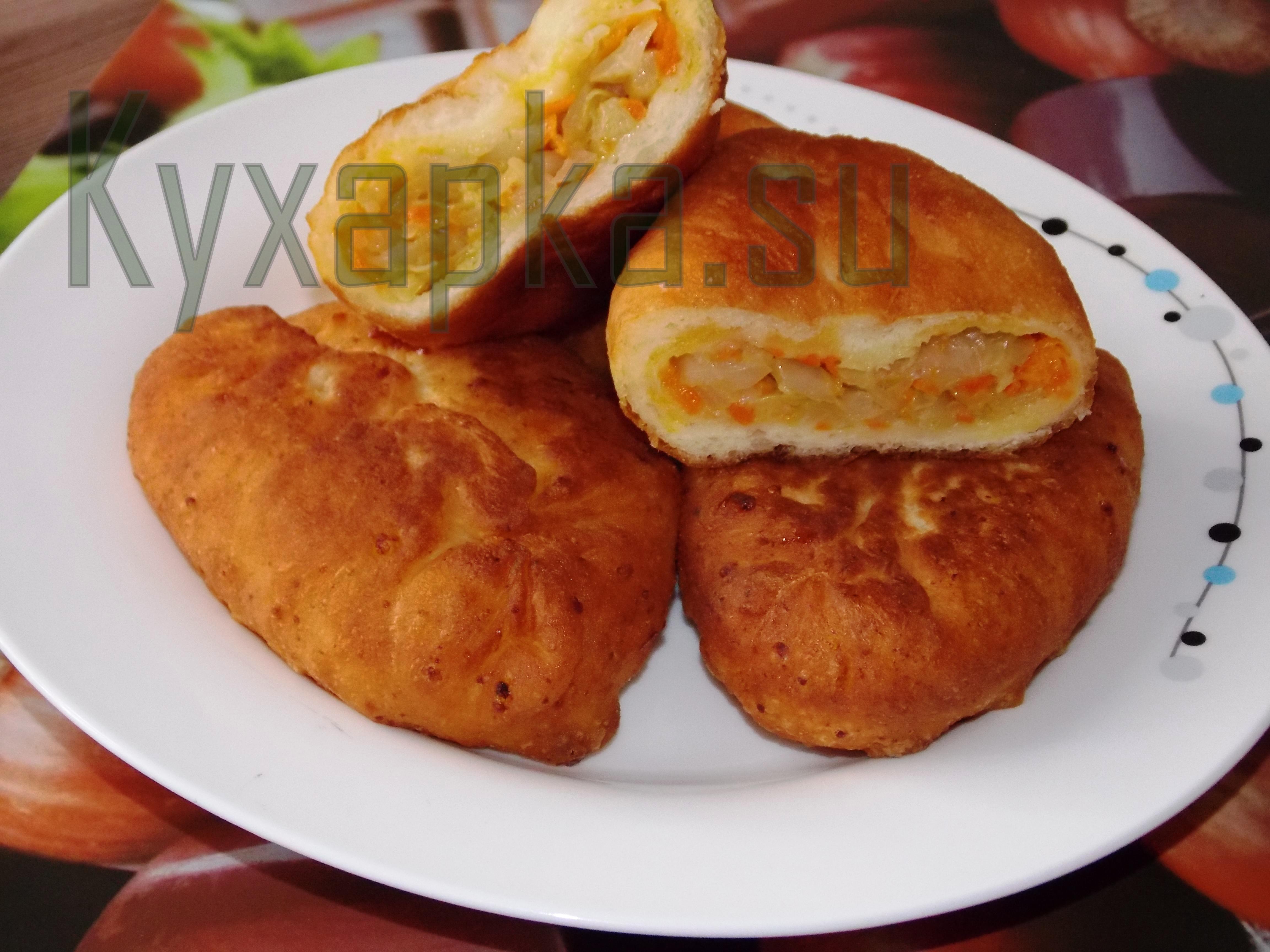 Жареные пирожки с капустой фото kyxapka.su